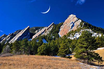 Majestic Flatirons Of Boulder Colorado Poster