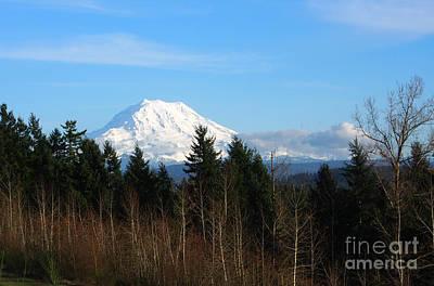 Majestic Mount Rainier Poster
