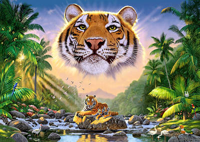 Majestic Tiger Poster by Chris Heitt