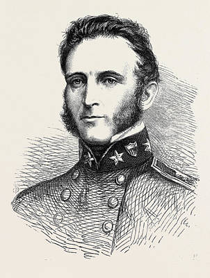 Major-general Stonewall Jackson Of The Confederate Army 1862 Poster by English School
