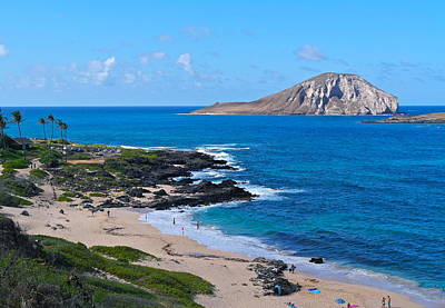 Makapuu Beach With Rabbit Island Poster by Michele Myers