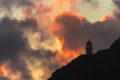 Poster featuring the photograph Makapuu Lighthouse Sunrise 1 by Leigh Anne Meeks