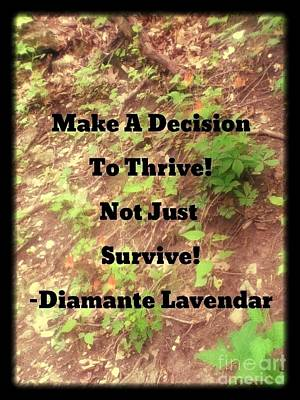 Make A Decision To Thrive Poster