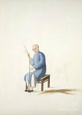Making Bamboo Mats, 19th-century China Poster by British Library