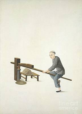 Making Incense, 19th-century China Poster by British Library
