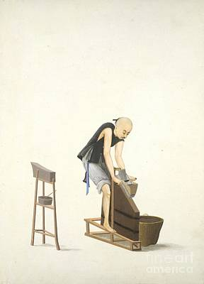 Making Tobacco, 19th-century China Poster by British Library