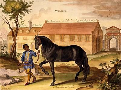 Makomilia, A Turk, Led By A Negro Poster by Abraham Jansz. van Diepenbeke