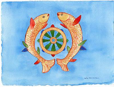 Makya Golden Fish Poster by Wicki Van De Veer