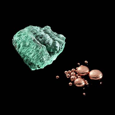 Malachite And Copper Poster by Science Photo Library
