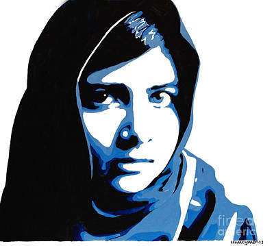 Malala Yousafzai On Friday Poster by Nancy Mergybrower