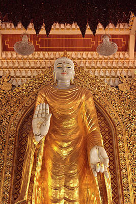 Malaysia, Penang, Dhammikarama Burmese Poster by Alida Latham