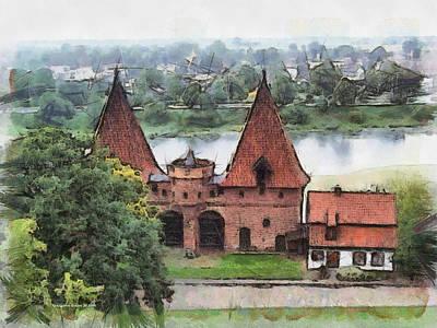 Malbork Castle Poster by Aleksander Rotner
