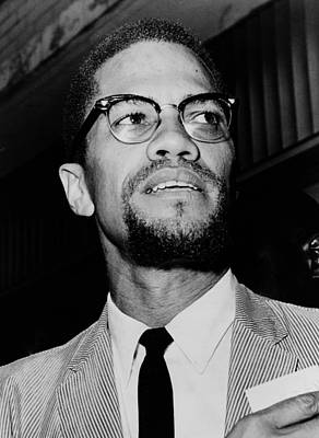 Malcolm X 1963 Poster by Mountain Dreams