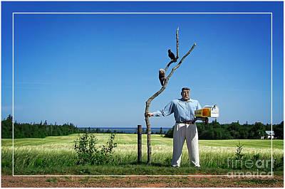 Male Box Man Poster by Edward Fielding