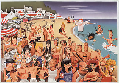 Malibu Beach Poster by Robert Risko