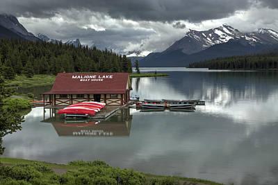 Maligne Lake Jasper Park Poster