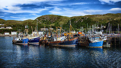 Mallaig Harbour In Scotland Poster
