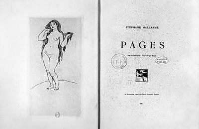 Mallarm� Pages, 1891 Poster by Granger