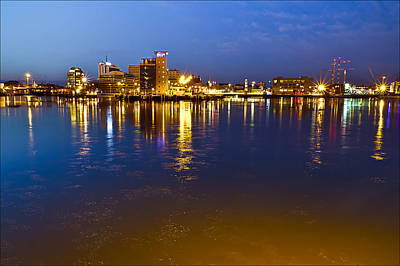 Malmo By Night Poster