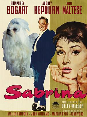 Maltese Art - Sabrina Movie Poster Poster by Sandra Sij