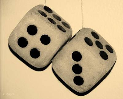 Mama's Dusty Dice In Sepia Poster by Rob Hans