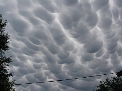 Mammatus Clouds Over Yorkton Poster