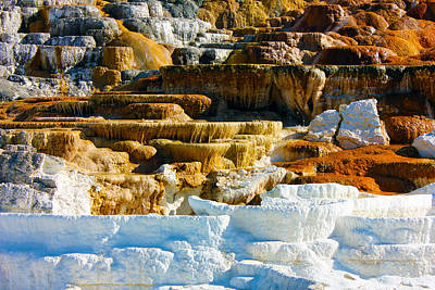 Mammoth Hot Springs Rock Formation No1 Poster