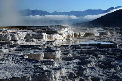Mammoth Hot Springs, Yellowstone Poster by Michel Hersen