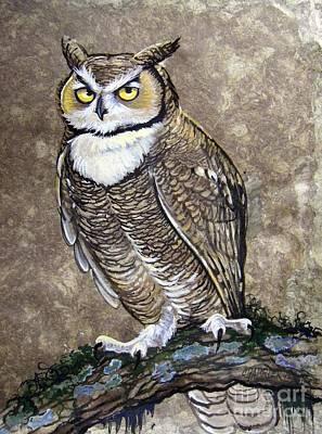 Mammoth Hunter's Great Horned Owl Poster
