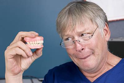 Man And His Dentures Poster by Joe Belanger