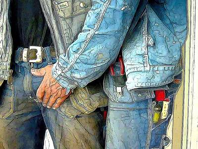 Man At Work Poster by Bob Bienpensant