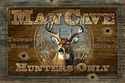 Man Cave Deer Poster by JQ Licensing