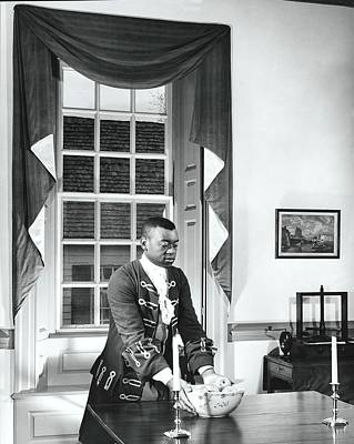 Man Dressed As Colonial Butler Poster