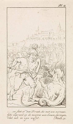 Man Holds A Dragon Down, Danil Veelwaard Poster