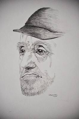Man In Cap Poster by Glenn Calloway