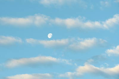 Poster featuring the photograph Man In The Moon In The Clouds by Fortunate Findings Shirley Dickerson
