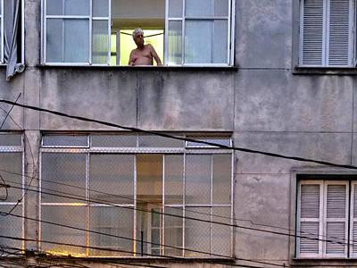 Man In The Window Poster by Julie Niemela
