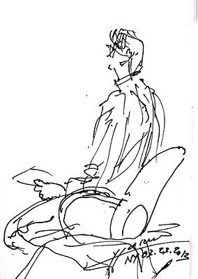 Man Sitting   Poster by Ylli Haruni