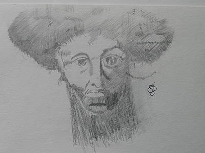 Poster featuring the drawing Man With An Afro by AJ Brown