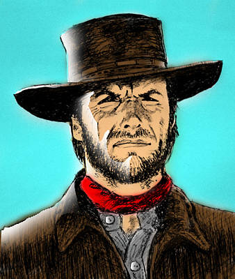 Poster featuring the mixed media Clint Eastwood by Salman Ravish