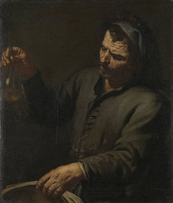 Man With Urine Bottle In His Hand, Anonymous Poster