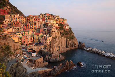 Manarola At Sunset In The Cinque Terre Italy Poster by Matteo Colombo
