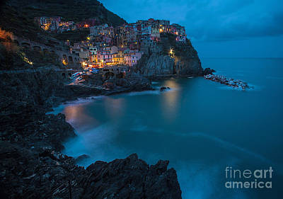 Manarola Calm Serenity Poster by Mike Reid