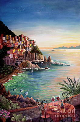 Manarola-cinque Terre-italy Poster by Marilyn Smith