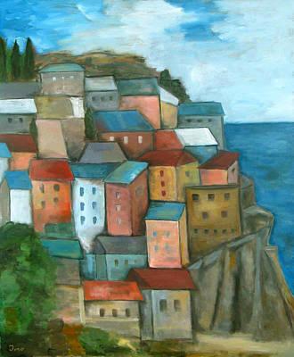 Manarola Cinque Terre Poster by Trish Toro