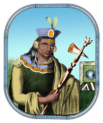 Manco Capac, Founder Of Inca Poster by Science Source
