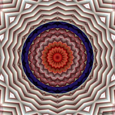 Poster featuring the digital art Mandala 10 by Terry Reynoldson