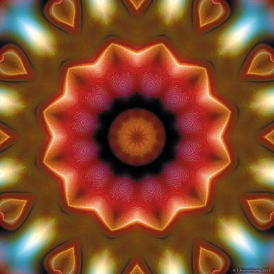 Poster featuring the digital art Mandala 103 by Terry Reynoldson