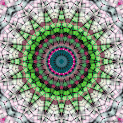 Poster featuring the digital art Mandala 26 by Terry Reynoldson