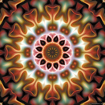 Poster featuring the digital art Mandala 67 by Terry Reynoldson